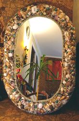 Продам зеркало в раме из ракушек