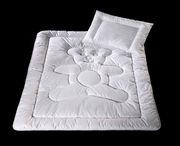 Детские гипоаллергенные одеяла и подушки, наматрасник водонипроницаемый