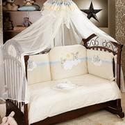 Продам постельный комплект и балдахин FERETTI(Италия).Центр