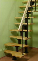 Модульная лестница гусиный шаг под заказ,  купить лестница для дома