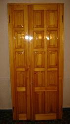 Дверь межкомнатная двустворчатая из цельного дерева с коробкой