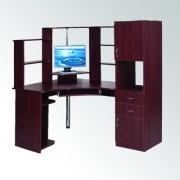 Стол компьютерный угловой с надстройкой.СУ-12 (Компанит)