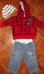 Продам джинсы и кофту на мальчика 0-3 месяцев