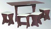 Барселона,  комплект,   Стол кухонный. 4 табуретки (компанит)