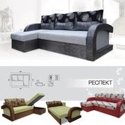 Мягкий раскладной Угловой диван Респект вика