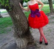 Продам красное коктельное платье