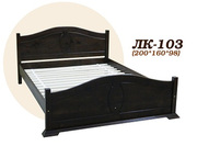 Кровать,  деревянная,  Лк- 103,  Скиф,  из массива хвойных пород деревьев.