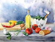 Картина Будущий салат