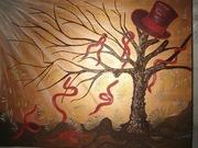 Отдам даром картину Дерево в цилиндре