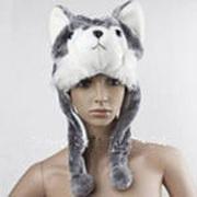 шапка-волк для детей и взрослых