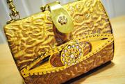 Золотая Сумка-ридикюль для модниц