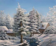 Картина маслом Сударыня Зима