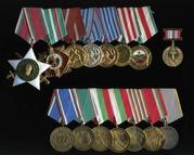 Предметы фалеристики (ордена,  медали,  знаки,  жетоны).