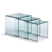 Столик стеклянный журнальный Вулкано