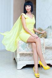 Вечернее лимонное платье-)