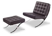 Кресло,  оттоманка Барселона,  натуральная кожа