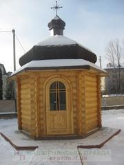 Изготовление срубов.Церкви и храмы из дерева.