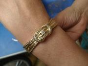 Оригинальные золотые часы Mathey-Tissot с бриллиантами и зол. ремешком