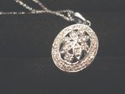 Антикварный кулон-медальон с бриллиантами
