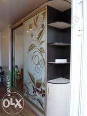 Шкаф-купе с рисунком