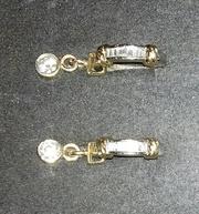 Серьги с бриллиантовыми подвесками