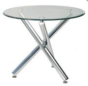 Обеденный стеклянный круглый стол Дезире
