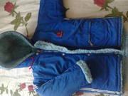 Продам зимний комбинезон на мальчика 3-4 годика