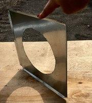 Изготовление пластин на трубы из жести (оцинкованной стали) в Одессе