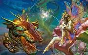 Картина Фея и Дракон