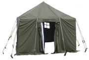 навесы, тенты брезентовые палатки военные, пошив под заказ