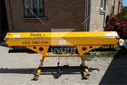 Резка листового металла на листогибе с поворотной балкой Sorex ZGR-236