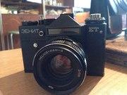 Зенит ет,  пленочный фотоаппарат +Объектив Гелиос 44-4 мм