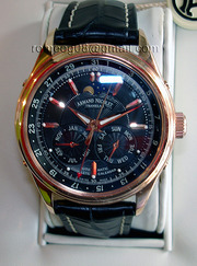 Новые часы Armand Nicolet complete calendar в розовом золоте 750 пробы