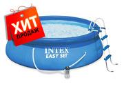 Надувной бассейн Intex 54916 ( 28168) Easy Set Pool 457*122 см