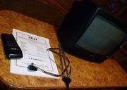 Телевизор AKAI,  СТ-1407D,  Япония,  рабочий,  настоящий,  полный комплект