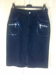 Джинсовый женский черный костюм тройка LAFEI NIER Jeans