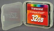 Карта памяти Compact Flash Transcend 32GB (133X) (TS32GCF133)