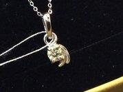 Кулон с бриллиантом 0,  20 карата