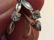 Серьги с бриллиантами 0. 40 карата
