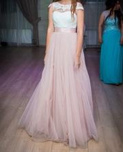 Выпускное,  свадебное платье цвета пудры