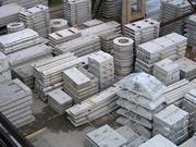 Блоки фундаментные Плиты перекрытия Кольца Плиты забора и дорожные
