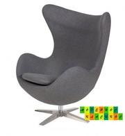 Кресло Эгг (Egg),  ткань кашемир,  цвет серый