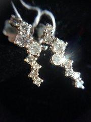 Серьги - каскад бриллиантов для леди