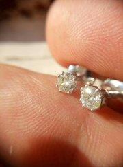 Серьги-пусеты с бриллиантами 0. 49 карата