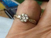 Кольцо из комбинированного золота с бриллиантами 0. 40 карата