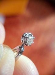 Кулончик с бриллиантом 0. 10 карата