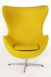 Красиве дизайнерське крісло-яйце (Egg Chair) від скульптора Арне Якобс