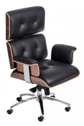 Ужгород Продам Крісло репліка Eames Lounge Chair & Ottoman чорне шкіря