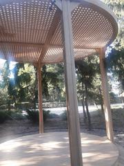 Пергола круглая деревянная
