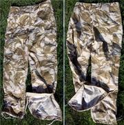 Британские военные штаны,  пустынный камуфляж,  ветрозащитные,  новые